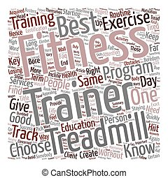 Fitness Trainer Boredom Busters text background wordcloud...