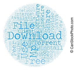 Free Mp3 Download Provider text background wordcloud concept