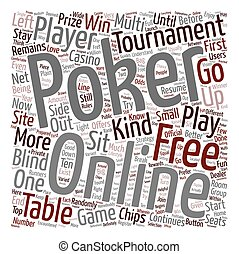 free online poker 1 text background wordcloud concept