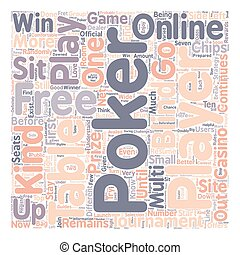 free online poker text background wordcloud concept