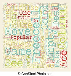 Freecell Solitaire Strategy Guide text background wordcloud...
