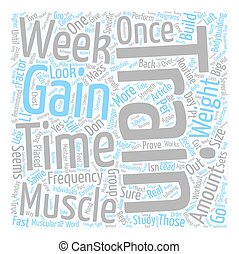 Gain Weight Fast Muscle With High Frequency Pt text background wordcloud concept