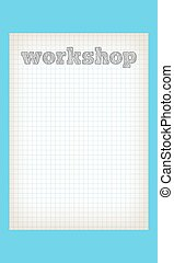 Vector lined paper and hand written words workshop