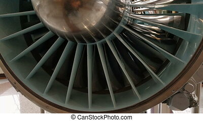 a jet engine - Detailed exposure of a turbo jet engine.