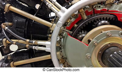 piston aircraft engine - Detailed exposure of a piston...