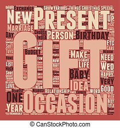Gift ideas for your nearest and dearest one text background...