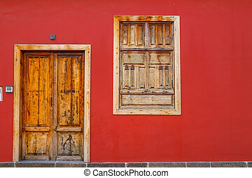 A photo of colourful front doors to house