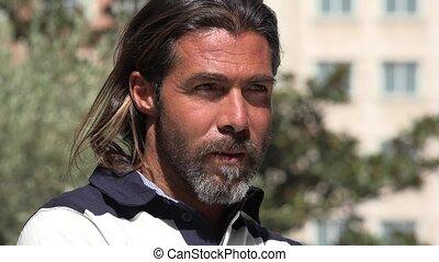 Handsome Spanish Or European Man