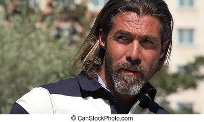 Handsome Caucasian Adult Man