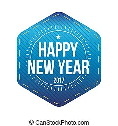 Happy 2017 New Year lettering vector