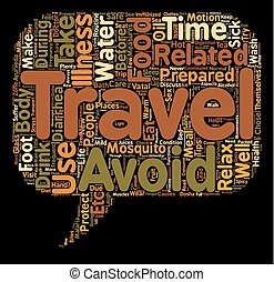 Health care for globe trotters text background wordcloud concept