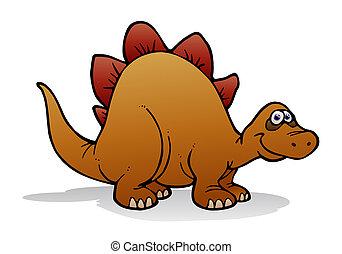 jurassic dinosaur - illustration of a dinosaur standing on...
