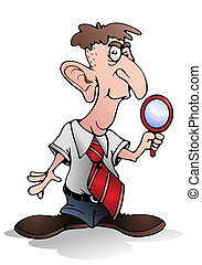 private detective - illustration of a private detective hold...