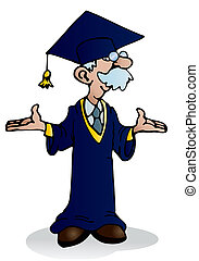 doctoral - illustration of a doctoral graduation for a happy...