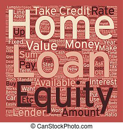 Home Equity Loan text background wordcloud concept