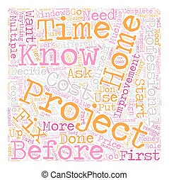 Home Improvement Projects text background wordcloud concept