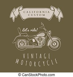 Motorcycle vintage graphics, t-shirt typography, Vintage...