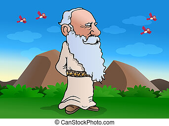 wiseman muse - illustration of a smart experienced wise Old...