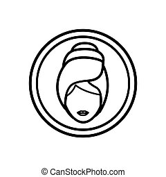 Isolated woman and spa center concept design - Woman icon....