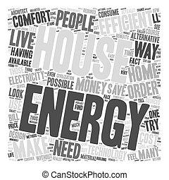 house energy efficent text background wordcloud concept