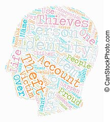 How Do Identity Thieves Scam You text background wordcloud...