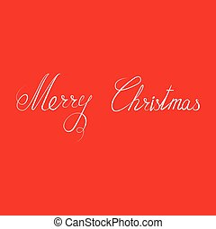Merry Christmas text Calligraphic. Lettering Christmas...