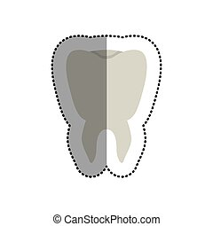 Isolated tooth design - Tooth icon. Dental medical heath...