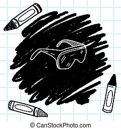 Protective glasses doodle