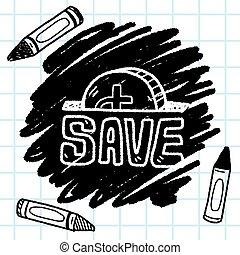 save money doodle