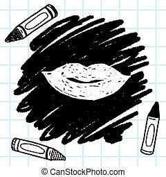 kiss doodle