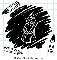 medieval people doodle