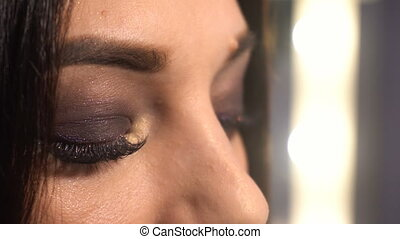 Portrait of beauty woman with makeup