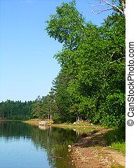 Buffalo Lake - northwoods Wisconsin - View of Buffalo Lake...