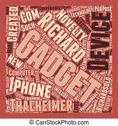 How Gadgets Make History text background wordcloud concept