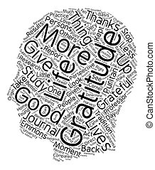 How Gratitude Can Change Your Life text background wordcloud...