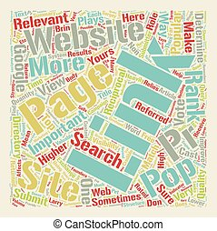 How Link Pop Affects Your Website s Page Rank text background wordcloud concept