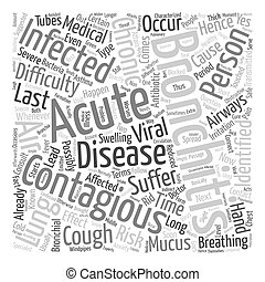 how long is bronchitis contagious text background wordcloud...