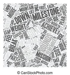 How to Achieve Your Desires With a Goal Achievement System Part 2 text background wordcloud concept