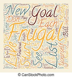 How to Become Motivated to be Frugal text background...