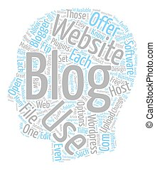 How To Blog From Your Own Website text background wordcloud concept