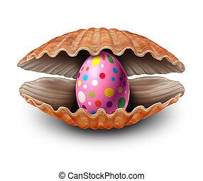 Ostern, ei, überraschung, entdeckung