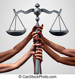 Social Justice - Social justice concept or class action...