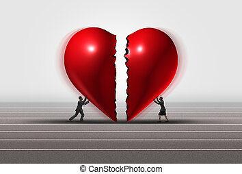 Fixing A Relationship - Fixing a relationship concept as a...