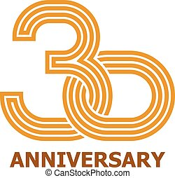 30 years anniversary symbol - illustration for the web