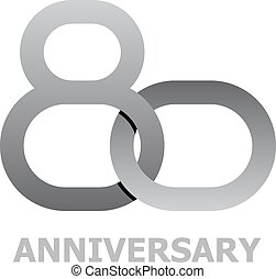 80 years anniversary symbol - illustration for the web