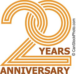 20 years anniversary symbol - illustration for the web
