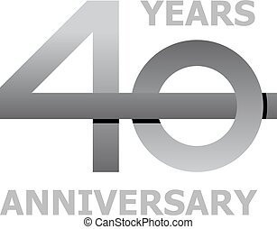 40 years anniversary symbol - illustration for the web
