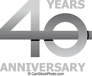 40 years anniversary symbol