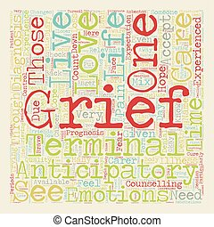 How to Cope with Anticipatory Grief text background...