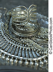 Treasure, heap of Beautiful Oriental Silver Bridal jewelry...